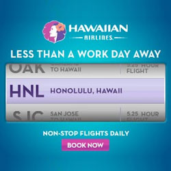 Спецпредложения на рейсы Гавайских авиалиний! Closer to Paradise: Less Than A Work Day Away! Book online Flights of Hawaiian Airlines!