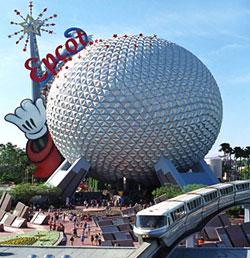 Epcot Centre (Парк Эпкот) - второй парк комплекса 'Мира Диснея' (Walt Disney World Resort), экспериментальный прототип общества будущего